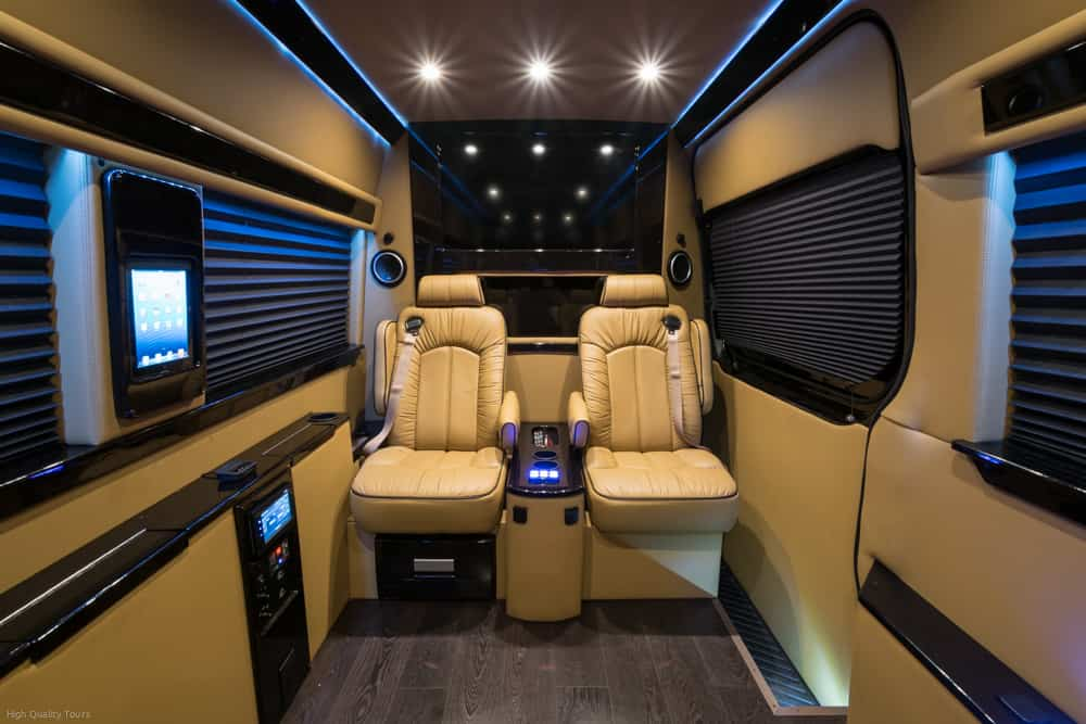 Private Luxury Car Inside View Digital Touch High Quality Tours